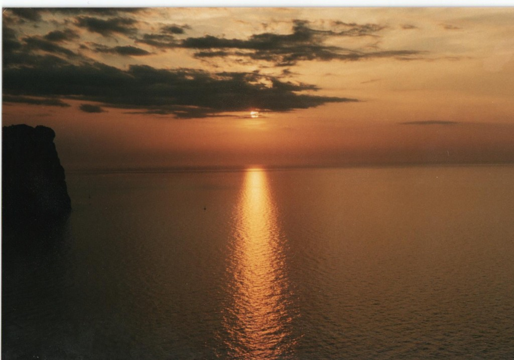 Flot solnedgang fra Mallorca, foto admin