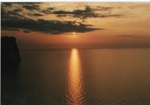 Flot solnedgang, foto admin